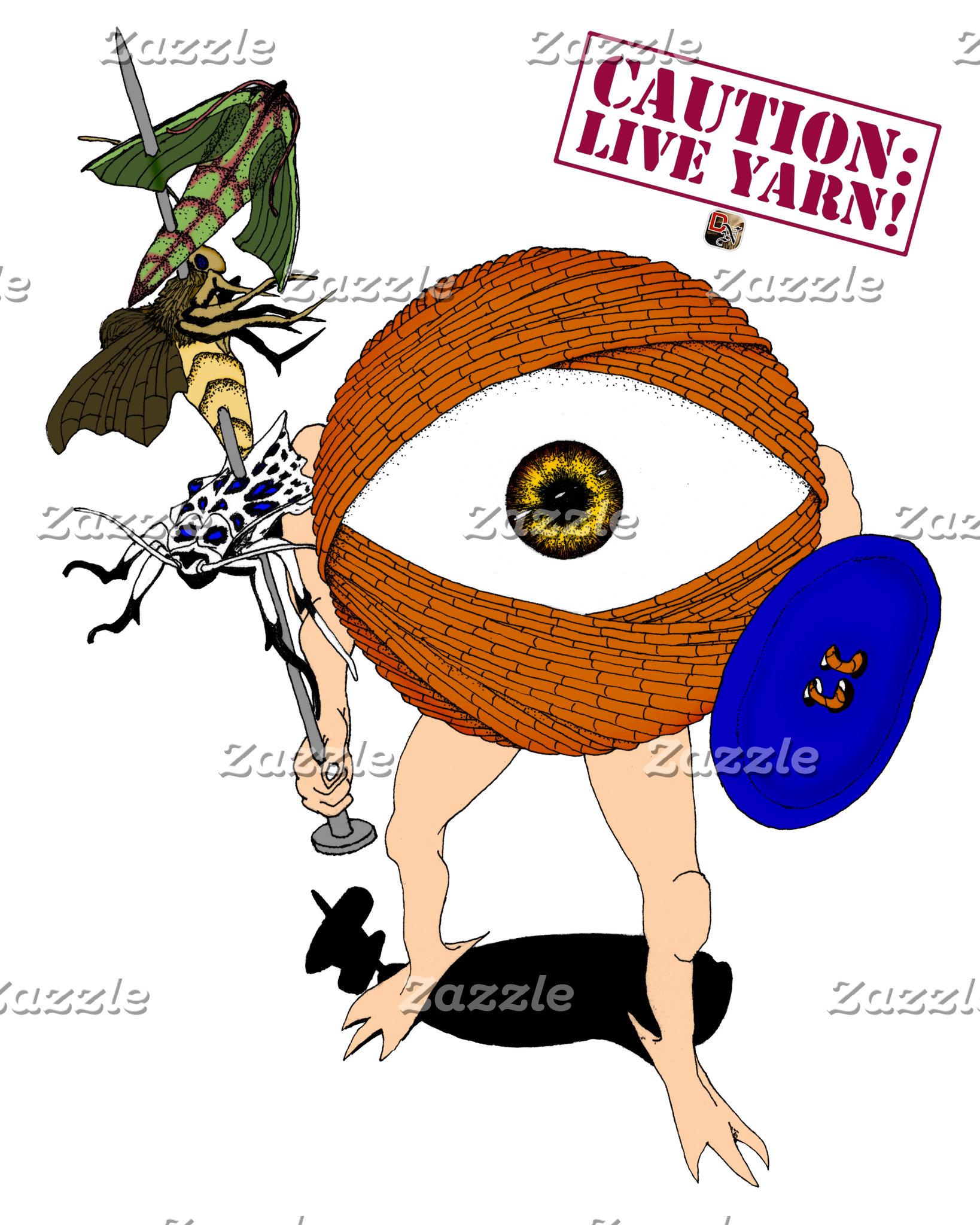 Caution: Live Yarn! Hunter