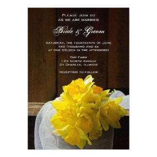 Rustic Daffodils and Barn Wood Country Wedding