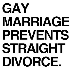 GAY MARRIAGE PREVENTS STRAI