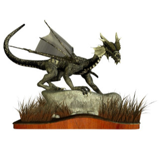 Standing Dragon on a Rock