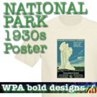 WPA Poster Designs National Park T-Shirts