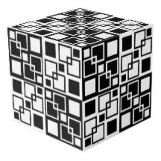 Black & White Op-art Squares Design