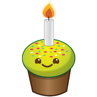 Cutie Cupcake Happy Birthday
