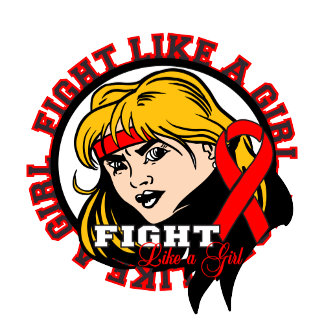 Blood Cancer Fight Like A Girl Attitude