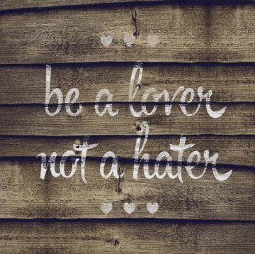Be a Lover Not a Hater