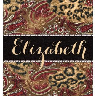 Leopard And Paisley Pattern Diamonds Personalize Gifts