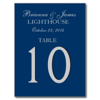 BLUE - Midnight and Navy Table Numbers