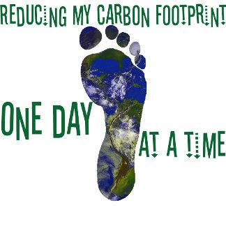 Reduce carbon footprint tees, totes and mugs.