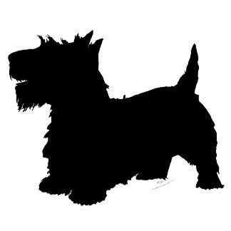 Happy Scottish Terrier Silhouette