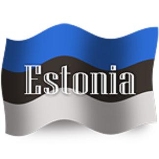 Estonia Waving Flags