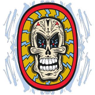 Insane Shock Tattoo Red Yellow Sugar Skull