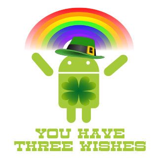 You Have Three Wishes (Android Bugdroid Rainbow)