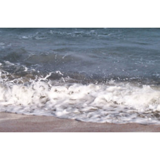 Small Wave Lapping at Beach