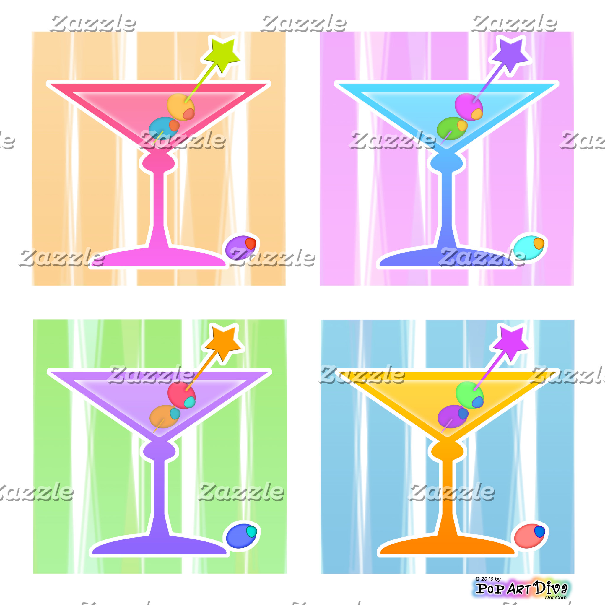 g. MARTINIS POP ART