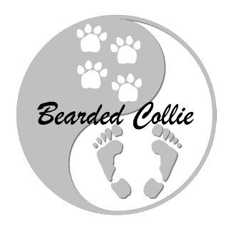 yin yang bearded collie