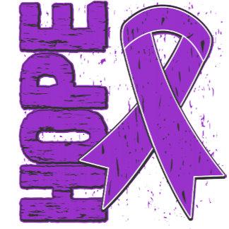 Epilepsy Hope Grunge Ribbon