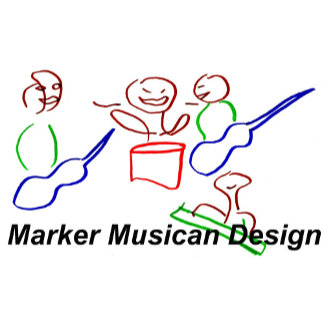 Marker Musician Stick Figure Band