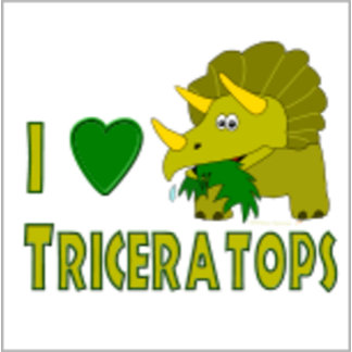I Love Triceratops with Animal