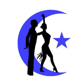 Ballroom moon star blue