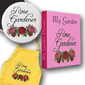 Rose Gardener Saying with Vintage Roses