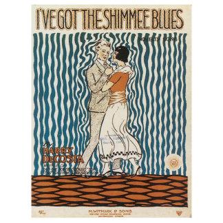 I've Got The Shimmee Blues  Vintage Song Sheet Art