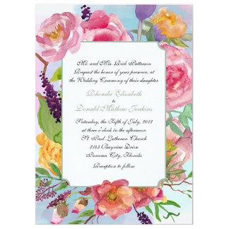 Colorful Watercolor Floral Wedding Set