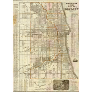 Blanchard's guide map of Chicago