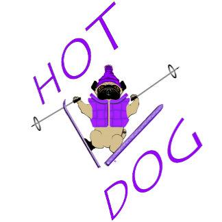 Hot Dog Skiing Pug