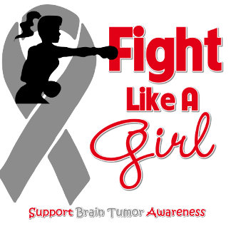 Brain Tumor Fight Like A Girl Knock Out