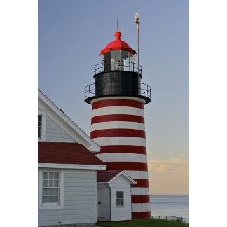 USA, Maine, Lubec. West Quoddy Head Lighthouse,