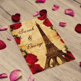 Eiffel tower Paris Wedding Invitations