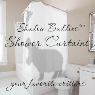Shadow Buddies™ Shower Curtains