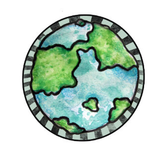 Watercolor Earth day