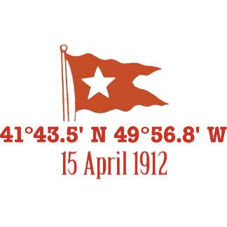 Titanic GPS Coordinates & White Star Flag