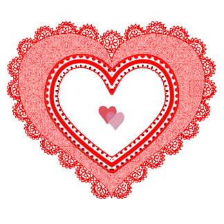 Lacy Red Love Heart