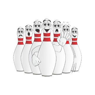 Cartoon Bowling Pins 2012