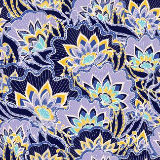 Vintage Blue Floral