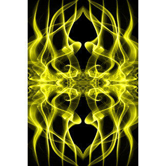 Silhouette of Colored Smoke Abstract yellow