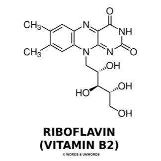 Riboflavin (Vitamin B2) Chemical Molecule