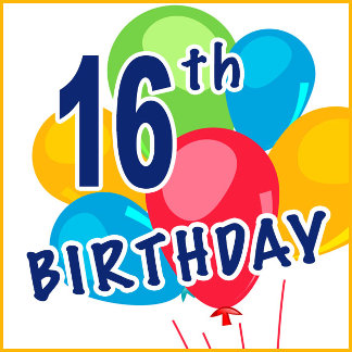 16th Birthday T-shirts and Gifts