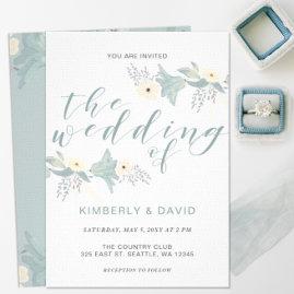 Vintage Garden Floral Wedding Invitations