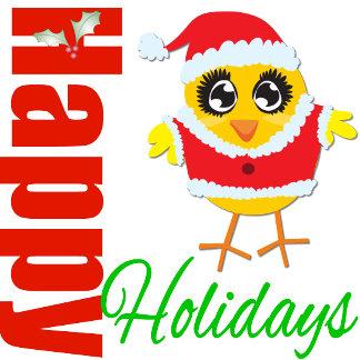 Happy Holidays Santa Chick