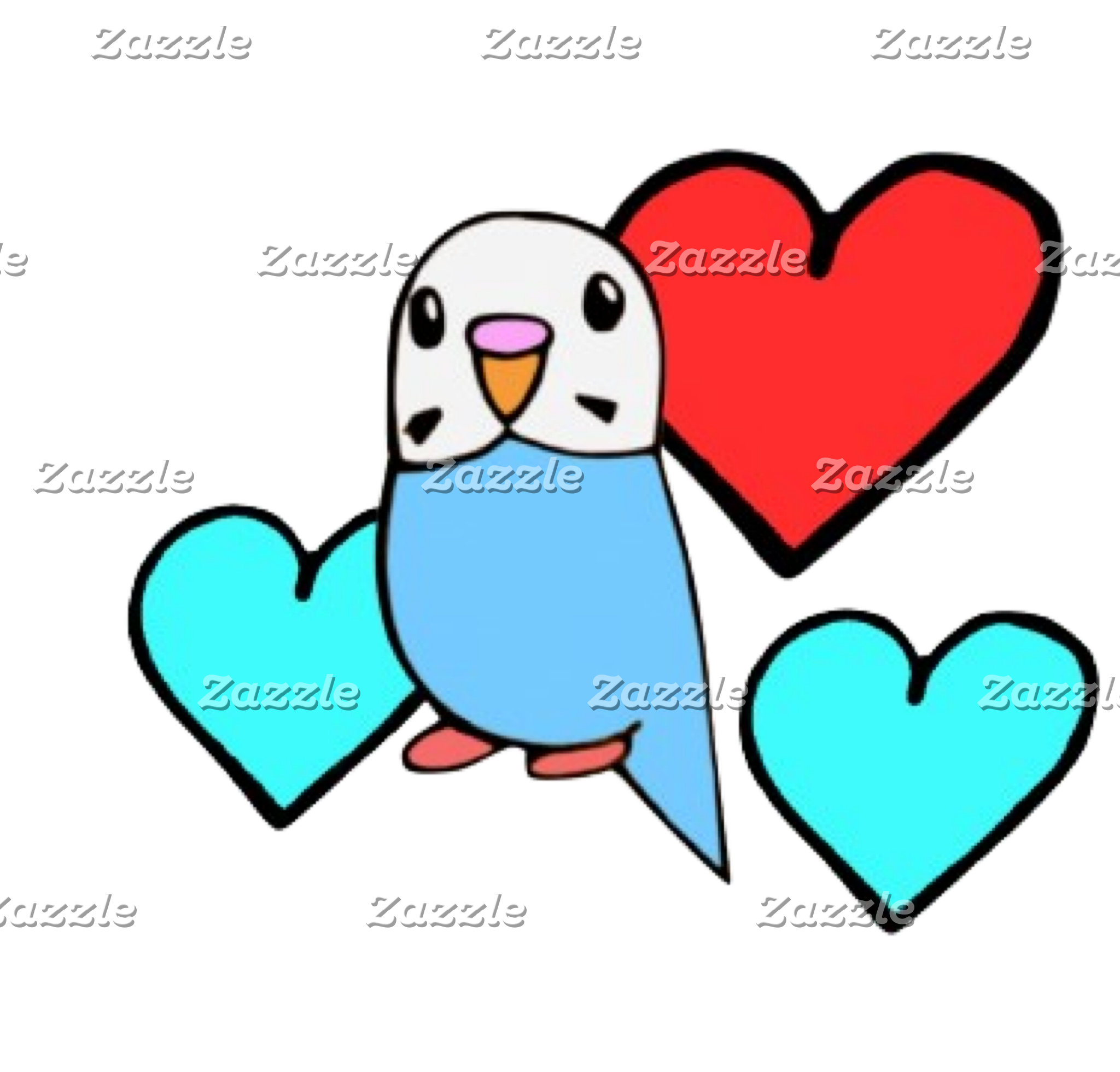 Budgie Hearts