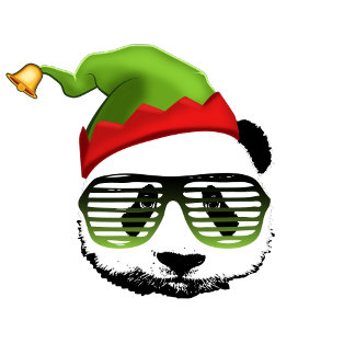 X-Mas elf panda