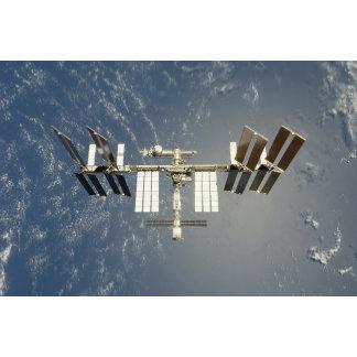 International Space Station backdropped