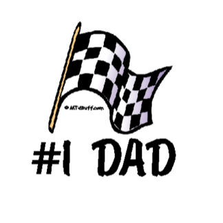 #1 Dad - Race Flag