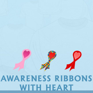 Awareness Ribbons with Heart