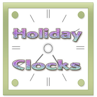 Holiday Wall Clocks