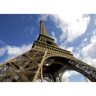 Eiffel tower from low angle