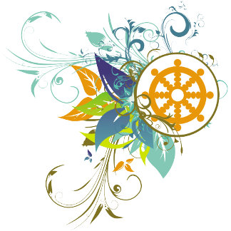 Dharma Wheel Floral